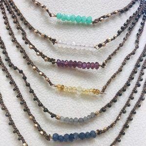 Baby Semi-Precious Beads Bar Necklace, NWT